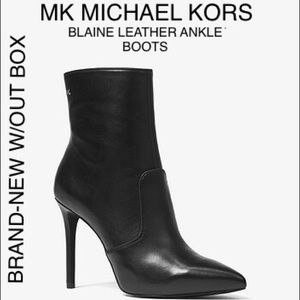 MICHAEL KORS MK BLAINE LEATHER ANKLE BOOTS SIZE 11